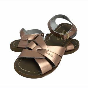 Salt Water Rose Gold Water Friendly Leather Sandal